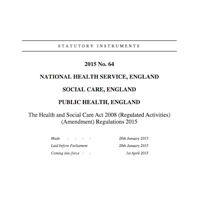 the health and social care act 2008 regulated activities amendment regulations 2015