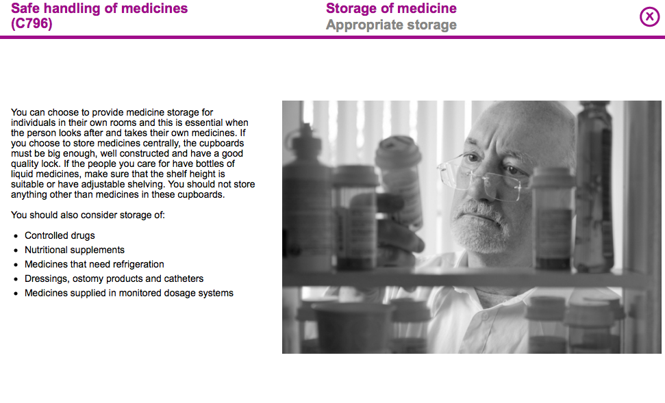 Storage of medicines thumbnail