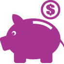 Save time and money icon